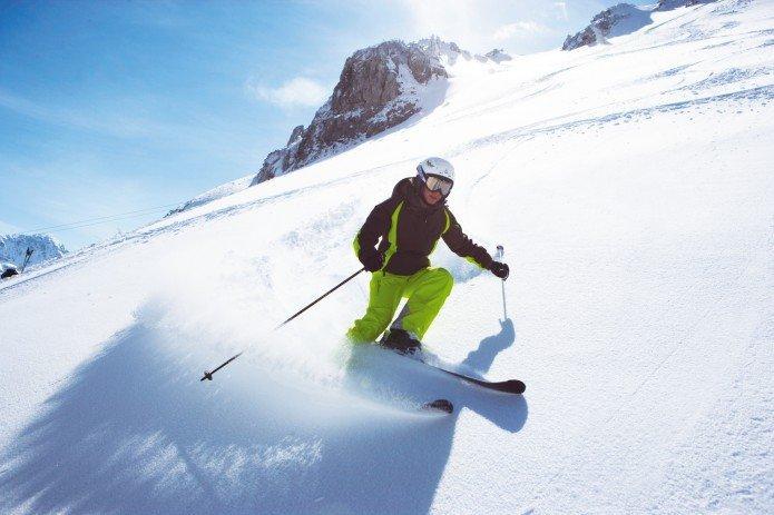 Skifahrer in Salzburg